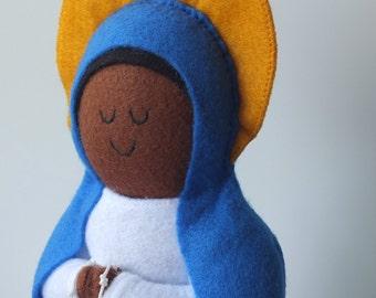 Our Lady of Kibeho Felt Saint Doll Catholic Religious Doll