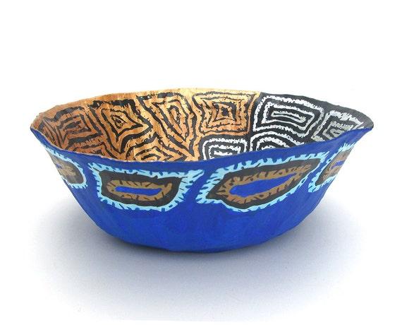 items similar to paper mache bowl table centerpiece. Black Bedroom Furniture Sets. Home Design Ideas