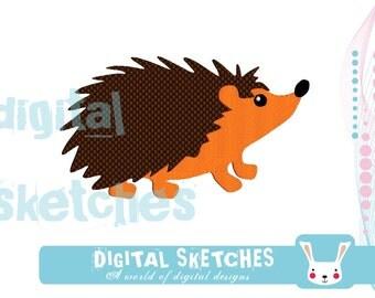 Hedgehog Machine Embroidery Design 4 Sizes