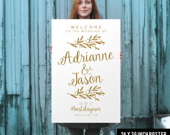 Wedding Welcome Sign - Wedding Welcome Poster - Printed Wedding Welcome Sign