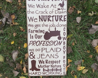 FREE SHIPPING! On This Farm Sign - We farm sign - Primitive Signs - Primitive Wall Decor - Wood Signs - Primitive