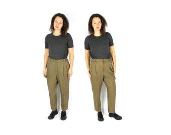 Brown plaid pants   Etsy