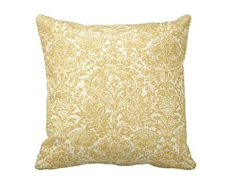 Yellow Throw Pillow Covers Yellow Pillow Covers Yellow Damask Pillow Paisley Pillows Decorative Pillows for Couch Cushions 20x20 Pillows
