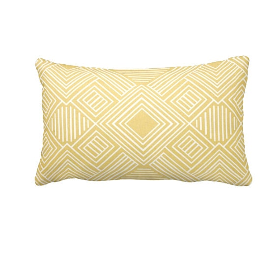 Standard Throw Pillow Cover Sizes : 7 Sizes Available: Yellow Pillow Cover Sofa by ReedFeatherStraw