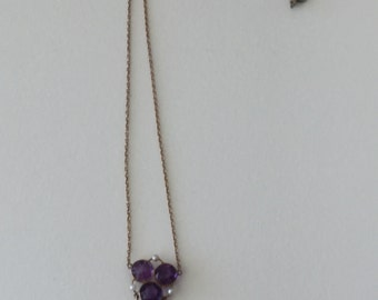 An Amethyst and Pearl Edwardian Necklace
