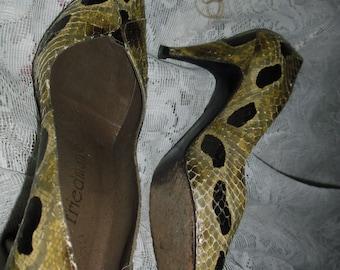 Genuine women's snakeskin shoes by Friedman