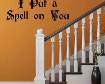 Halloween Decal, Hocus Pocus Decal, Spell, Hocus Pocus, Put a spell on you, Witch Decal, Witch Wall decal, Halloween Wall Decal