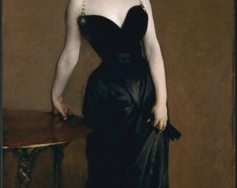 "Madame X by John Singer Sargent, 8.5""x16"", Canvas Giclee Print"