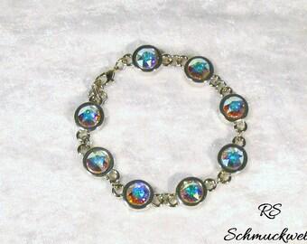 Crystal bracelet, wedding bracelet, Crystal AB, Crystal bracelet, tennis elbow band, white, gift, wedding, engagement, Bridal jewelry, color of your choice