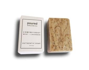 Comfrey Root, Mint + Lavender | AUTHENTIC SOAP