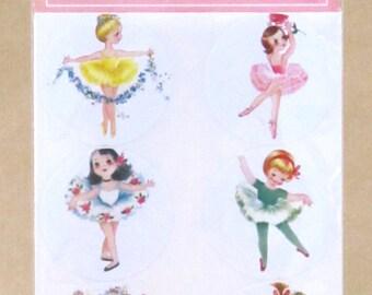 Ballerina Vintage Style Stickers