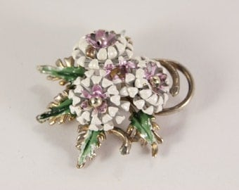 Lilac Flower Bouquet Brooch
