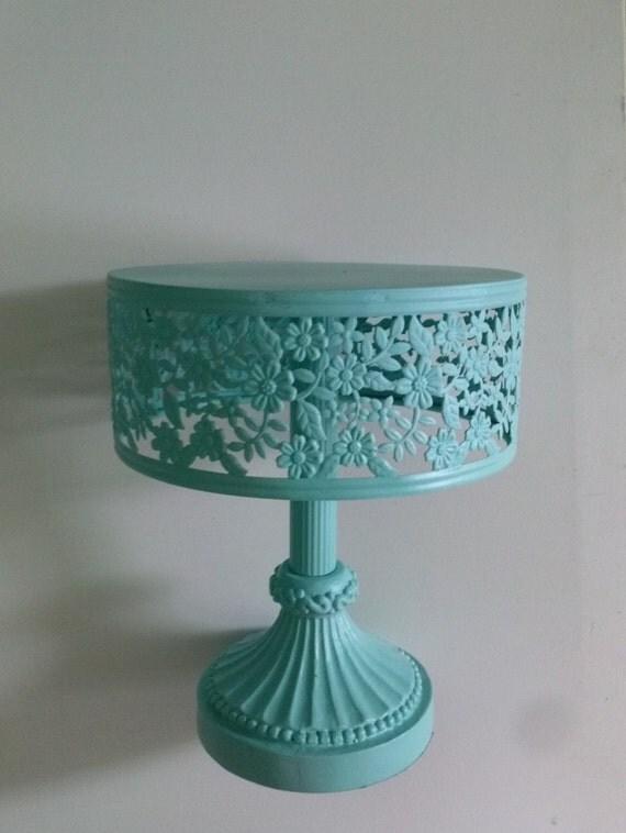 Aqua Metal Cake Stand