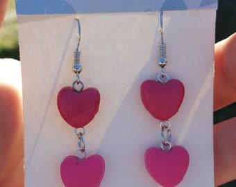 Heart/Valentines/Polymer clay earrings/Handmade