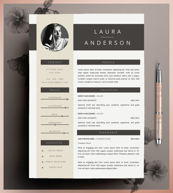 instant resume templates creative template download editable ms word pages cover letter size us