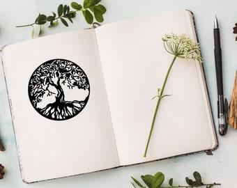 Tree Of Life Decal Sticker, Yoga Symbol, Mandala Sticker, Sacred Tree Decal, Laptop Sticker, MacBook Decal, Window Sticker, Yoga Gift