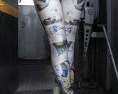 TAFI Clockwork Leggings - Steampunk Mechanical Gears Machine Costume Yoga Pants 2015 Black Milk Galaxy CosPlay Print