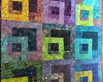 Beautiful Batik Quilted Wall Hanging