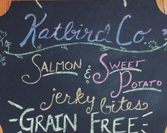Salmon and Sweet Potato Jerky Bites