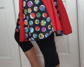 Ladies' Pokemon Inspired Pokeball Skirt