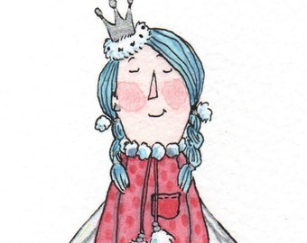 Fairy in Pink Spotty Dress