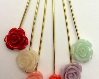 Rose hijab pin