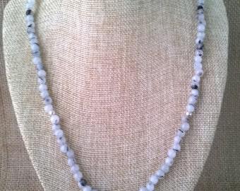 Simple Tourmalated Quartz Necklace with Small Nautilus Pendant