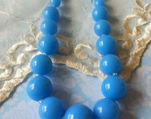 Trifari Lucite Beaded Necklace Chunky Beads 1970s