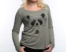 Racoon - Round neck tee-shirt for women