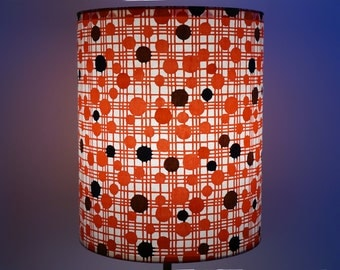 abat-jour en papier washi traditionnel, comme Mondrian, rouge / lampshade, traditionnal quality washi paper, red Mondrian like paterns