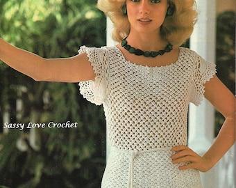 Crochet Irish Lace Blouse Pattern, Summer Irish Crochet  Lace Top pattern - PDF Download