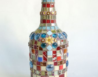 Mosaic Bottle Flower in the Beach