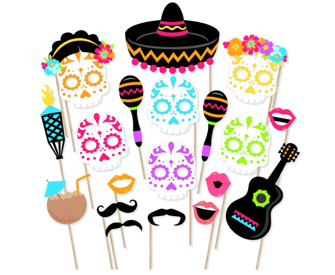 Mexico Party Mask Template 109