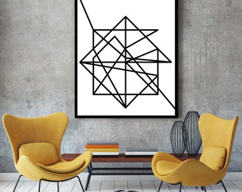 Abstract art, fine art prints, wall art, art prints, minimalist art, black and white, wall art prints, fine art, giclee, wireframe, wire art