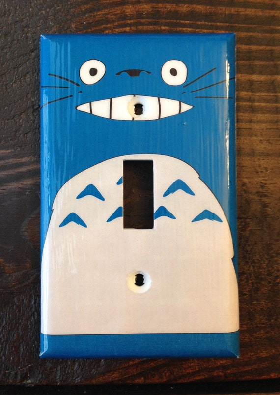 Snap Blue Totoro Single Toggle Light Switch Cover Studio Ghibli