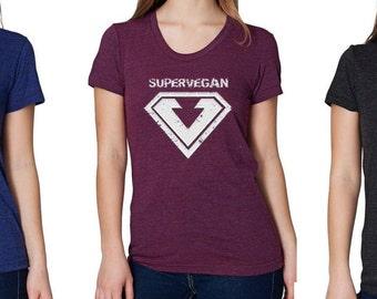 Supervegan ladies T-shirt - vegan clothing, vegan apparel, vegan womens top, vegan ladies top