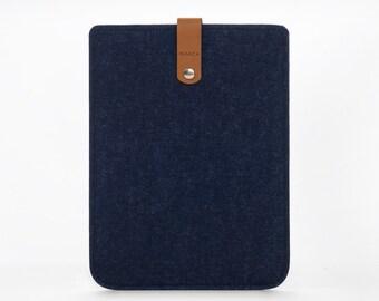 iPad Sleeve - iPad Mini Case - iPad Mini Cover - Cover iPad 4 - Felt and Leather Case