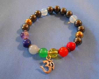 4 Chakra Bracelet Kits Rainbow Bracelet Stretch Bracelet Pride Bracelet Gemstone Bracelet DIY Jewelry Kits Craft Kits Party Favors and Games