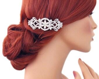 Wedding hair comb, Art Deco, Bridal hair comb, Crystal comb, Rhinestone hair comb, Vintage hair comb, Wedding hair accessories 15214