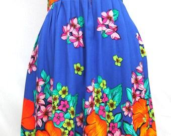 Vintage 1980's Floral Print Skirt