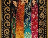 Her Secrets - Goddess Art 5x7 Blank Greeting Card
