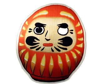 Shiny Daruma Sticker