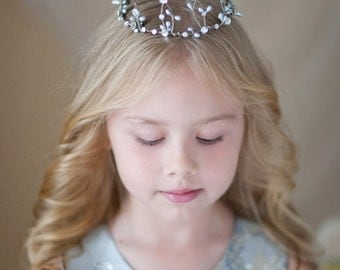 mini crown, silver hair accessories, photo props kids, Swarovski silver crown, photo shoot props, girls birthday, fairy costumes for girls,