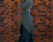 Tailcoat Sweater - cut out sweater with tail in Military Green