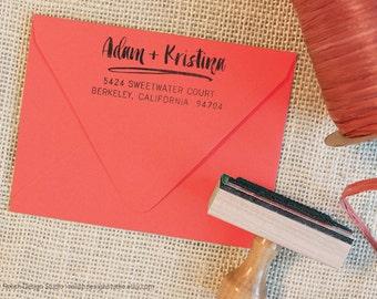 Fun Return Address Stamp 132 - Custom Personalized Address Stamp, Handwritten Address Stamp, Cute Couple Stamp, Modern Stamp, rubber stamps