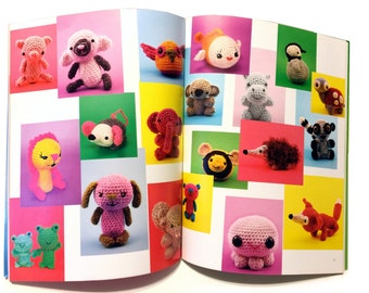 Tiny Yarn Animals, Crochet Pattern Book, DIY Crochet Lamb, Crochet Pig, Crochet Lion, Crochet Owl, Crochet Bear, Crochet Turtle, Tamie Snow