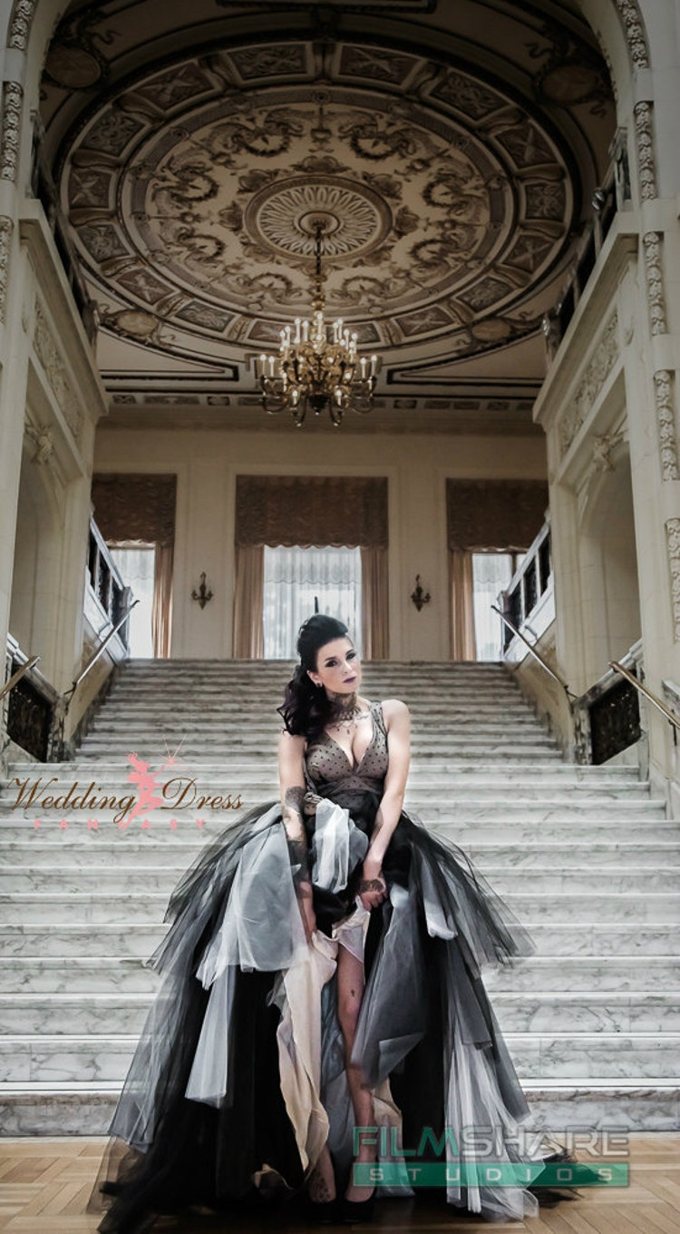 Couture Vintage Gothic Wedding Dress Retro By