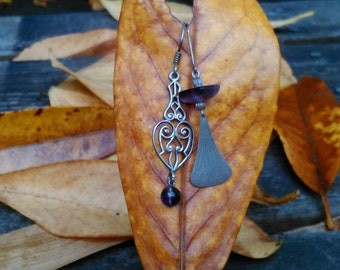 Sterling Silver, Amethyst Drop Earrings