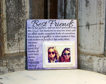 Best Friends Gift, Maid of Honor gift, Sisters wedding gift,  Matron of Honor gift, Bridesmaid gift, Personalized Picture Frame 16x16
