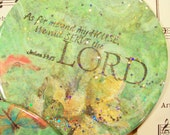 Large Scripture Magnet, As for Me and My House, We will Serve the Lord, Joshua 24:15 Scripture Art, Refrigerator Magnet